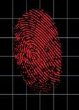 Εικονική ταυτότητα δακτυλικών αποτυπωμάτων Στοκ Εικόνα