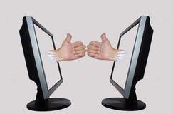 Εικονικός αριθμός ένα - επιχειρησιακή έννοια Διαδικτύου - επιτυχία εργασίας ομάδων Στοκ Εικόνες