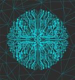 Εικονικός κύκλος τεχνολογίας Στοκ εικόνα με δικαίωμα ελεύθερης χρήσης