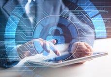 Εικονικός μηχανισμός κλειδώματος στους πόρους πρόσβασης ελεύθερη απεικόνιση δικαιώματος
