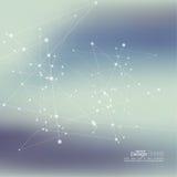 Εικονικό αφηρημένο υπόβαθρο με το μόριο Στοκ Εικόνα