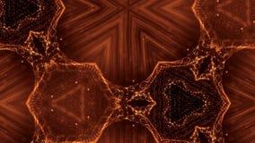 Εικονικό διάστημα με το βάθος του τομέα για τα ψηφιακά στοιχεία HUD Χρυσό υπόβαθρο βρόχων που επεξηγεί το μικρόκοσμο ή φιλμ μικρού μήκους