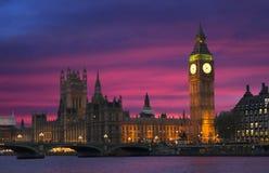 Εικονικό ηλιοβασίλεμα στο Λονδίνο Στοκ εικόνες με δικαίωμα ελεύθερης χρήσης