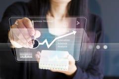 Εικονικό διάγραμμα κουμπιών Τύπου επιχειρηματιών, επιχείρηση ως έννοια Στοκ εικόνες με δικαίωμα ελεύθερης χρήσης
