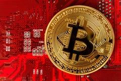 Εικονικό νόμισμα Bitcoin Εμπορικές συναλλαγές με Bitcoin Ο κίνδυνος ένα εικονικό νόμισμα Στοκ εικόνες με δικαίωμα ελεύθερης χρήσης
