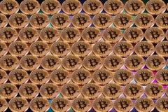 Εικονικό νόμισμα Bitcoin Εμπορικές συναλλαγές με Bitcoin Ο κίνδυνος ένα εικονικό νόμισμα Crypto έννοια υποβάθρου νομίσματος Στοκ φωτογραφία με δικαίωμα ελεύθερης χρήσης