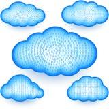 Εικονικό ψηφιακό δυαδικό σύνολο στοιχείων πλέγματος πληροφοριών αποθήκευσης σύννεφων Στοκ φωτογραφία με δικαίωμα ελεύθερης χρήσης