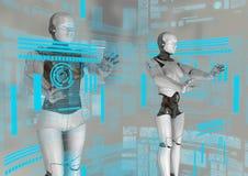 Εικονικό cyborg Στοκ εικόνα με δικαίωμα ελεύθερης χρήσης