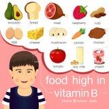 Εικονογράφος των τροφίμων υψηλός στη βιταμίνη Β Στοκ φωτογραφίες με δικαίωμα ελεύθερης χρήσης