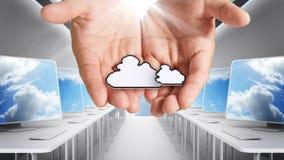 εικονοκύτταρο δικτύων εικονιδίων υπολογιστών σύννεφων Στοκ φωτογραφία με δικαίωμα ελεύθερης χρήσης