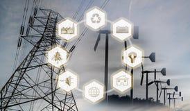 Εικόνα έννοιας ανανεώσιμης ενέργειας Στοκ Εικόνες