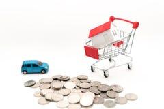 Εικόνα έννοιας της αγοράς του σπιτιού και του αυτοκινήτου στοκ φωτογραφίες