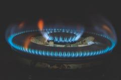 εικόνα αερίου φλογών σκοταδιού Στοκ εικόνα με δικαίωμα ελεύθερης χρήσης