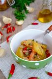 Εικόνα αποθεμάτων συνταγής τουρσιών ντοματών στοκ εικόνες