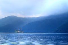 Εικόνα αποθεμάτων της λίμνης Hakone, Ιαπωνία Στοκ Φωτογραφία