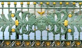 Εικόνα ενός όμορφου σχεδίου στο φράκτη Στοκ Εικόνα