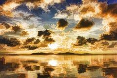 Εικόνα επίδρασης ως τοπίο ζωγραφικής Στοκ φωτογραφία με δικαίωμα ελεύθερης χρήσης