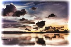 Εικόνα επίδρασης s ως ζωγραφική Στοκ Φωτογραφίες