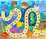 Εικόνα επιτραπέζιων παιχνιδιών με το υποβρύχιο θέμα 2 Στοκ Φωτογραφία
