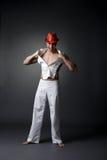 Εικόνα εύθυμο stripper στη κάμερα Στοκ Εικόνες