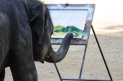 Εικόνα ζωγραφικής ελεφάντων Στοκ Φωτογραφίες