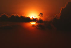 Εικόνα ηλιοβασιλέματος Στοκ φωτογραφίες με δικαίωμα ελεύθερης χρήσης