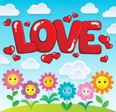 Εικόνα 2 θέματος αγάπης λέξης Στοκ Εικόνα