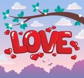 Εικόνα 3 θέματος αγάπης λέξης Στοκ Εικόνα