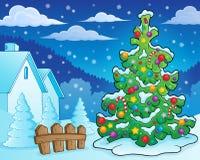 Εικόνα 8 θέματος χριστουγεννιάτικων δέντρων Στοκ φωτογραφία με δικαίωμα ελεύθερης χρήσης
