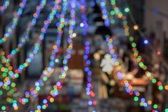 Εικόνα θαμπάδων του καταστήματος βιβλίων στο ράφι στο εμπορικό κέντρο για τη χρήση υποβάθρου Κατάστημα πελατών εικόνας θαμπάδων γ Στοκ φωτογραφία με δικαίωμα ελεύθερης χρήσης