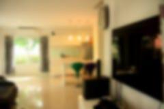 Εικόνα θαμπάδων του σύγχρονου καθιστικού στο σπίτι Στοκ Εικόνα