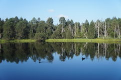 Εικόνα καθρεφτών σε μια λίμνη Στοκ Φωτογραφία