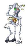 Εικόνα κινούμενων σχεδίων του σπασμένου ρομπότ Στοκ φωτογραφίες με δικαίωμα ελεύθερης χρήσης