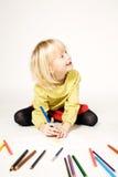 εικόνα κοριτσιών σχεδίων Στοκ εικόνα με δικαίωμα ελεύθερης χρήσης