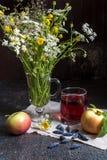 Εικόνα με τα μήλα Στοκ εικόνα με δικαίωμα ελεύθερης χρήσης