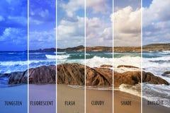 Εικόνα με τις διαφορετικές ισορροπίες χρώματος στοκ εικόνες