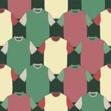 Εικόνα με τις χρωματισμένες μπλούζες Στοκ φωτογραφίες με δικαίωμα ελεύθερης χρήσης