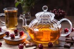 Εικόνα με το τσάι Στοκ εικόνες με δικαίωμα ελεύθερης χρήσης