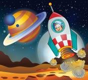 Εικόνα με το διαστημικό θέμα 3 Στοκ φωτογραφίες με δικαίωμα ελεύθερης χρήσης
