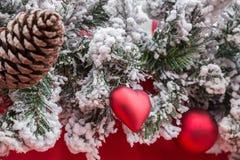 Εικόνα μιας διακόσμησης Χριστουγέννων Στοκ Εικόνες