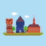 Εικόνα μιας πόλης χωρών στο επίπεδο ύφος landscape urban Διάνυσμα, απεικόνιση EPS10 Στοκ φωτογραφία με δικαίωμα ελεύθερης χρήσης