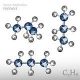 Εικόνα μορίων προπανίου Στοκ Εικόνα