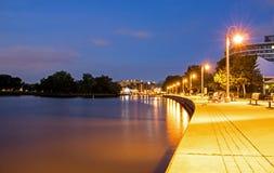 Εικόνα νύχτας του λιμανιού της Bronte στοκ φωτογραφία με δικαίωμα ελεύθερης χρήσης