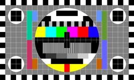 Εικόνα δοκιμής TV Στοκ φωτογραφία με δικαίωμα ελεύθερης χρήσης