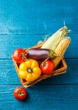 Εικόνα πάνω από το καλάθι με τα λαχανικά φθινοπώρου Στοκ φωτογραφίες με δικαίωμα ελεύθερης χρήσης