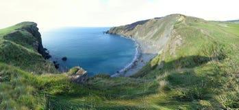 Εικόνα πανοράματος μιας παραλίας ή ενός κόλπου στον Ατλαντικό Ωκεανό στοκ εικόνες