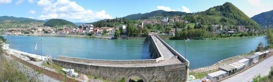 Εικόνα πανοράματος ViÅ ¡ egrad, Βοσνία-Ερζεγοβίνη Στοκ φωτογραφία με δικαίωμα ελεύθερης χρήσης