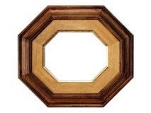 εικόνα πλαισίων octangle ξύλινη Στοκ Φωτογραφία