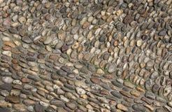 Εικόνα που λαμβάνεται στην Κροατία Παλαιό πεζοδρόμιο των μικρών πετρών Στοκ Εικόνα