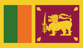 Εικόνα σημαιών της Σρι Λάνκα ελεύθερη απεικόνιση δικαιώματος